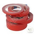 Cinta Adhesiva Color Rojo PVC 19/66ml