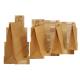 Bolsa Kraft marrón con asas planas 20 x 10 x 28 cm