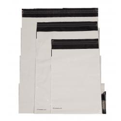 Bolsa de plástico opaca con fuelle Embaleo n°1 27,5 x 35 cm 60µ