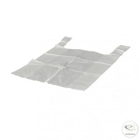 Sac bretelle blanc 11 µ en plastique