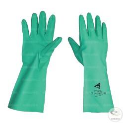 Par de Guantes Químicos de nitrilo verde