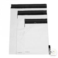 Bolsa de plástico opaca con fuelle Embaleo n°2 36,5 x 46 cm 60µ