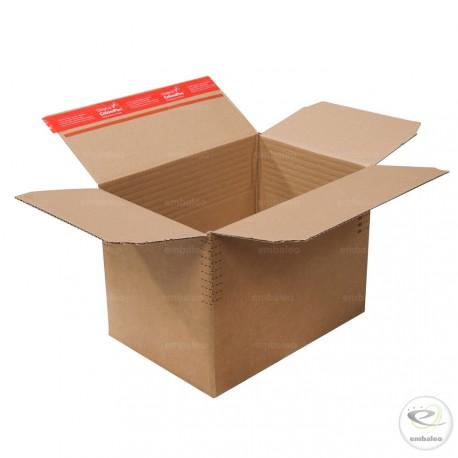 Caja de cartón de altura variable 30,4 X 21,6 cm