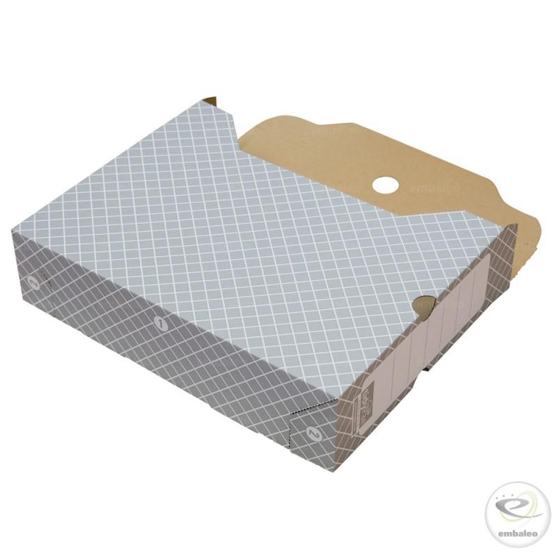 Cajas de archivo gris 32 2 x 7 8 x 24 9 cm for Cajas carton almacenaje