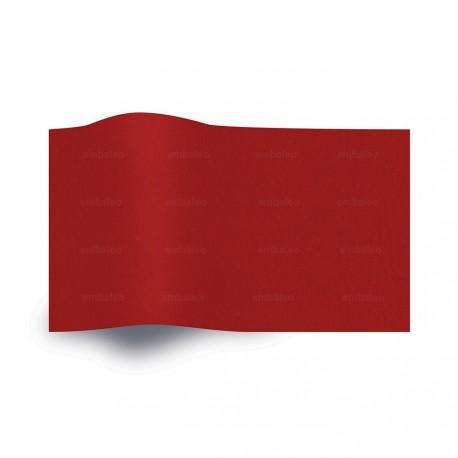 Papel de seda rojo vivo