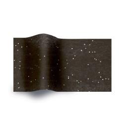 Papel de seda negro con lentejuelas