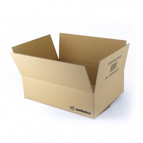 Cartón canal simple 45 x 32 x 12 cm