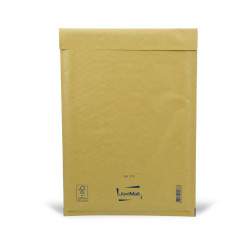 Sobre marrón con burbujas F Mail Lite Gold 22x33cm