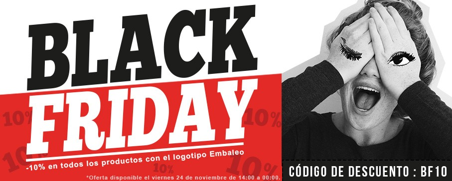 Descuento Black Friday: -10% en los productos Embaleo con el código BF10.